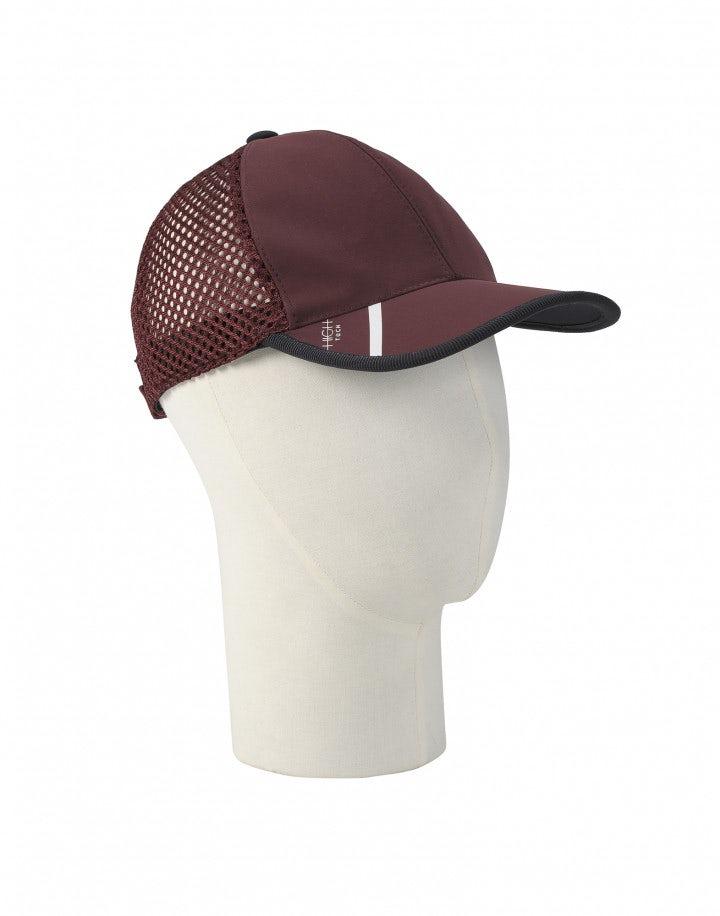 BUSSY: Cappello da baseball in rete, color borgogna