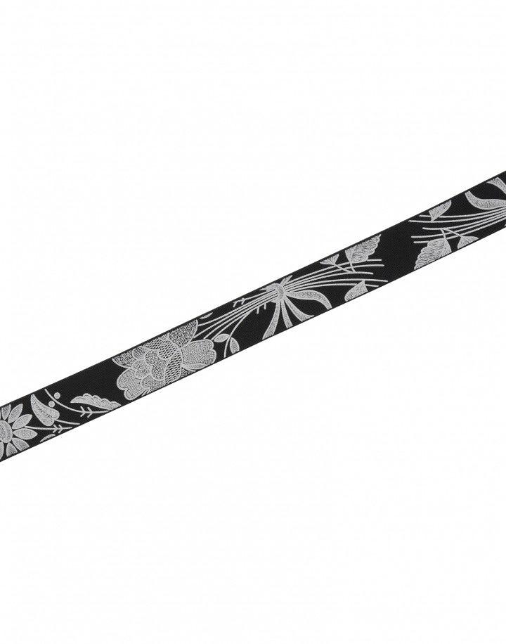 ULTIMO: Cintura stretch nera con stampa bianca