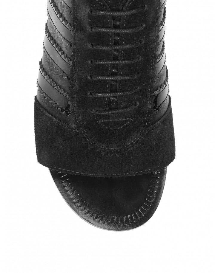 TROPEZ: Scarpe nere aperte sul davanti
