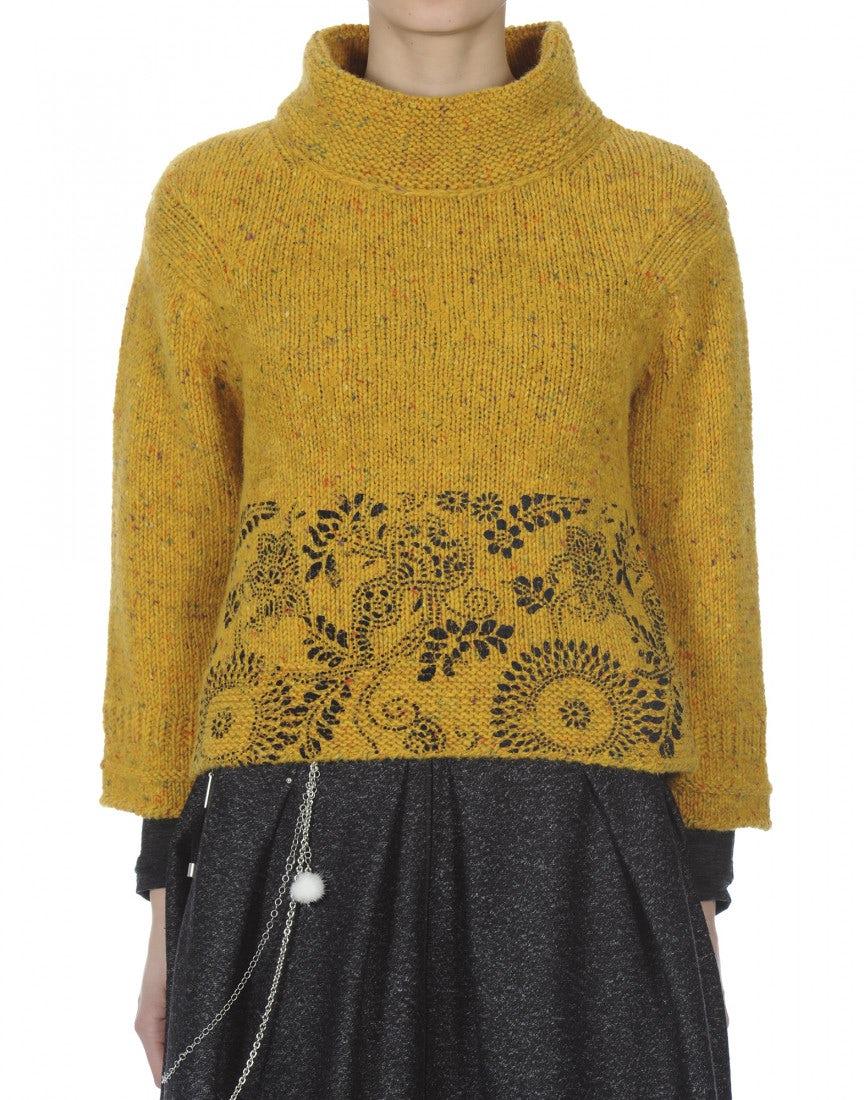 klimt petit pull en tweed donegal couleur moutarde high. Black Bedroom Furniture Sets. Home Design Ideas