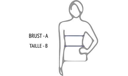 Measuring guide for dresses